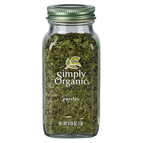 Simply Organic Parsley Flakes, Cut & Sifted, Certified Organic | 0.26 oz | Petroselinum crispum var. neapolitanum