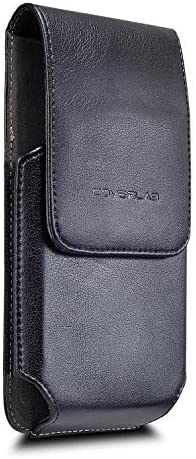 Galaxy Note 8 Case, Galaxy Note 8 Holster Case, Leather Holster Pouch Case with Belt Clip, Leather ID Wallet Case Compatible or Samsung Galaxy Note 8 (Fit w/Slim Case) -