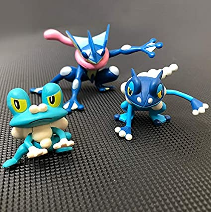 Color : Black Original Greninja Frogadier Froakie Anime Cartoon Action /& Toy Figures Collection Model Toy Ken HU Store