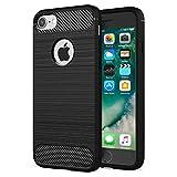 NEW'C Funda para iPhone 7 y iPhone 8 y iPhone SE 2020 (4.7'), Funda Protectora con absorción de Impactos y Fibra de Carbono [Silicone Gel Flex]