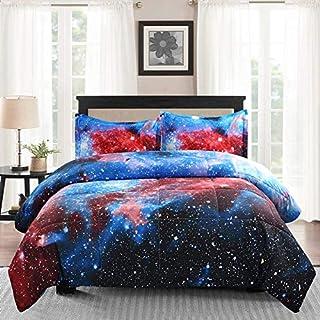 Juwenin bedding, Galaxy Down Alternative Comforter Set with Matching Pillow Covers All Season, Fluffy, Warm, Soft, Xk17002...