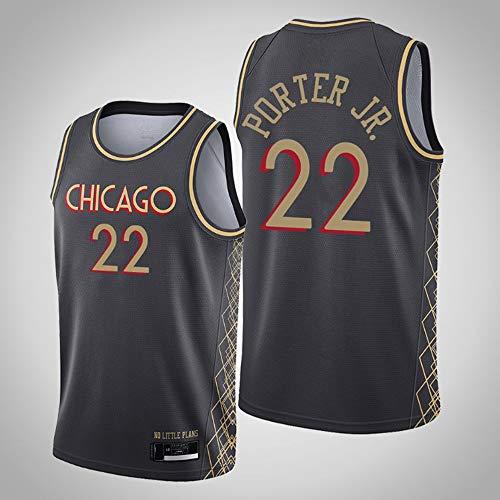YZQ Männer Jersey-Chicago Bulls # 22 Otto Porter JR -Jersey Retro-Gym Atmungsaktive Und Schnell Trocknende Weste Sport Top,L(175~180cm/75~85kg)