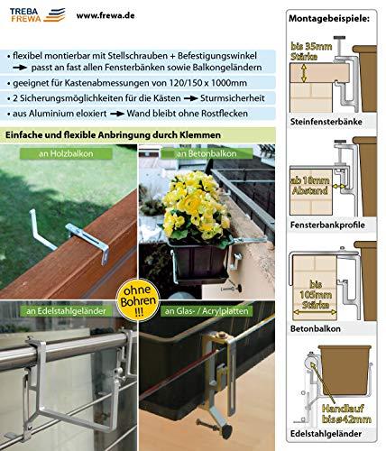 Balkonkastenhalter ohne Schrauben Balkon Fensterbank Blumenkasten