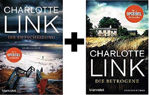 Geschenkidee 2 Bände der Kriminalromane von Charlotte Link 1. Die Entscheidung & 2. Die Betrogene