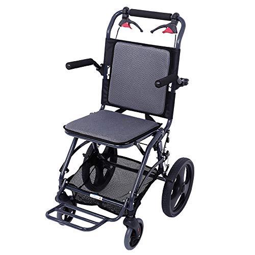 LIUQIGRASS zelfrijdende rolstoelen, vouwen, lichtgewicht, draagbaar reizen voor ouderen, kan het vliegtuig, scooter, massieve banden nemen