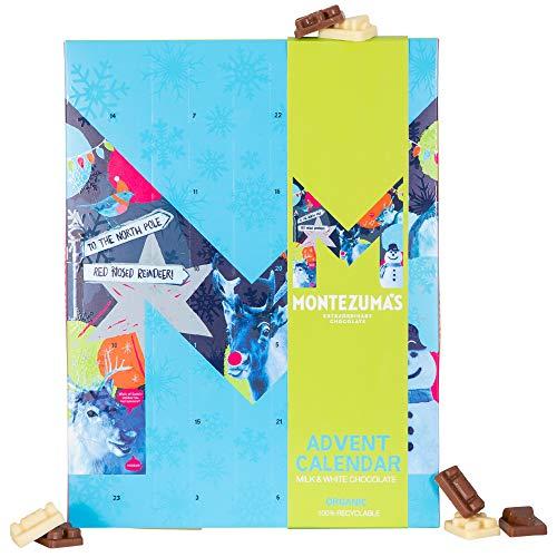 Montezuma's Christmas, Childrens Milk and White Chocolate Advent Calendar, Organic, 144g