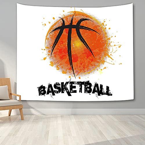 KHKJ Tapiz de Pared de Baloncesto Impreso en 3D para Dormitorio de niños Adolescentes Tapiz Colgante de Pared hogar Dormitorio tapices de Tela de Fondo...