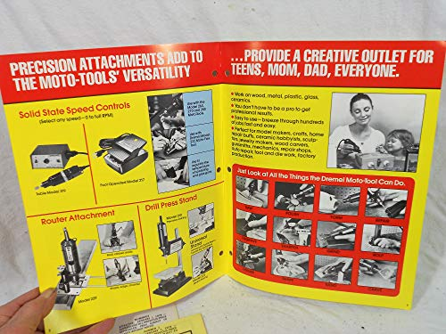 Electric Dremel Power Tools Quality Electric Motor-In-Hand Tools Catalog No. 23