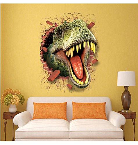 Stickerkoenig 3D Wandtattoo Wandaufkleber Wanddurchbruch Loch Wand Sticker DIY Kinderzimmer Dinos Dinosaurier T-Rex #7003