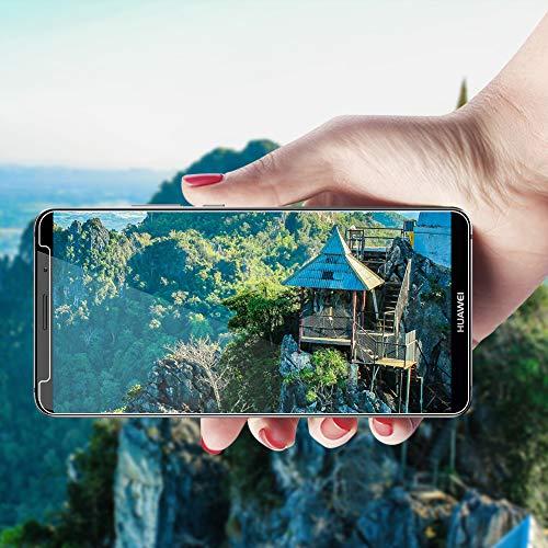 POOPHUNS Panzerglas Schutzfolie für Huawei Mate 10 Pro, [2 Stück] 9H Härte Panzerglas Folie [kompatibel 3D-Touch] [Blasenfreie] [Anti-Kratzen] [Anti-Öl] Displayschutzfolie für Huawei Mate 10 Pro - 4