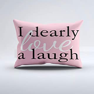 Zippered Pillow Covers Pillowcases One Side 12x24 Inch Pride & Prejudice | Pink Jane Austen Quote Pillows Pillow Cases Cushion Cover for Home Sofa Bedding