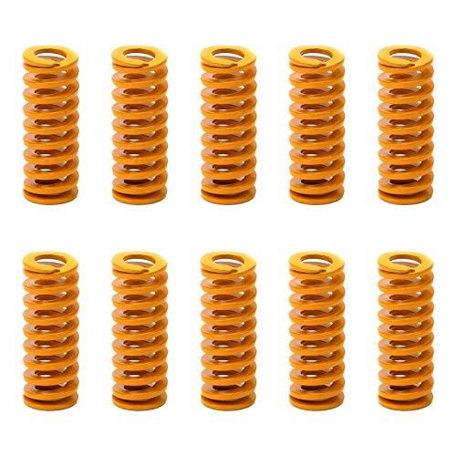 IUwnHceE Impresora 3D 10PCS resortes de Repuesto Calefacción Cama Placa Base compresión de nivelación conexión Inferior (Naranja)