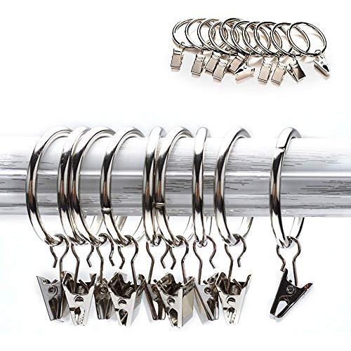 20 Stück Edelstahl Vorhang Clip 25mm 28mm Durchmesser Vorhang Ringe mit Haken