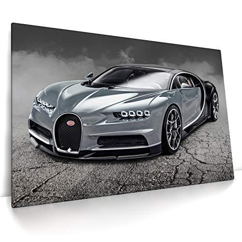 CanvasArts Bugatti Chiron - Leinwand Bild auf Keilrahmen - Wandbild Leinwandbild (80 x 60 cm, Leinwand auf Keilrahmen)