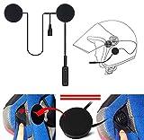 Auricolare bluetooth interfono microfono per casco da moto scooter cuffie musica