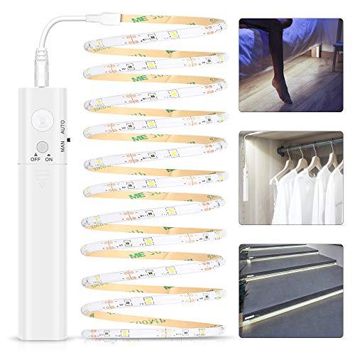 Tira de Luces LED con Sensor de Movimiento, Tira Luz Cuerda 3M,...