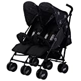 My Babiie MB22 Black Stars Twin Stroller