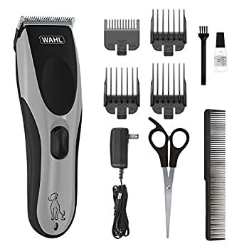 Wahl Easy Pro for Pets Rechargeable Dog Grooming Kit – Quiet Low Noise Heavy-Duty Electric Dog Clippers for Dogs & Cats with Thick to Heavy Coats - Model 9549 Silver 10 piece set