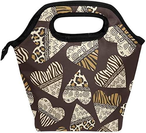 Leopard EthnicLunch bag heat insulation lunch box handbag keep f