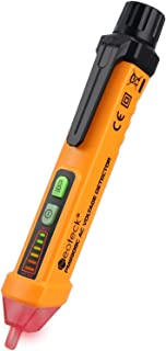 Neoteck Non-Contact Voltage Tester 12-1000V AC Voltage Detector Pen Circuit Tester Tool with Led Flashlight Beeper Pocket Clip