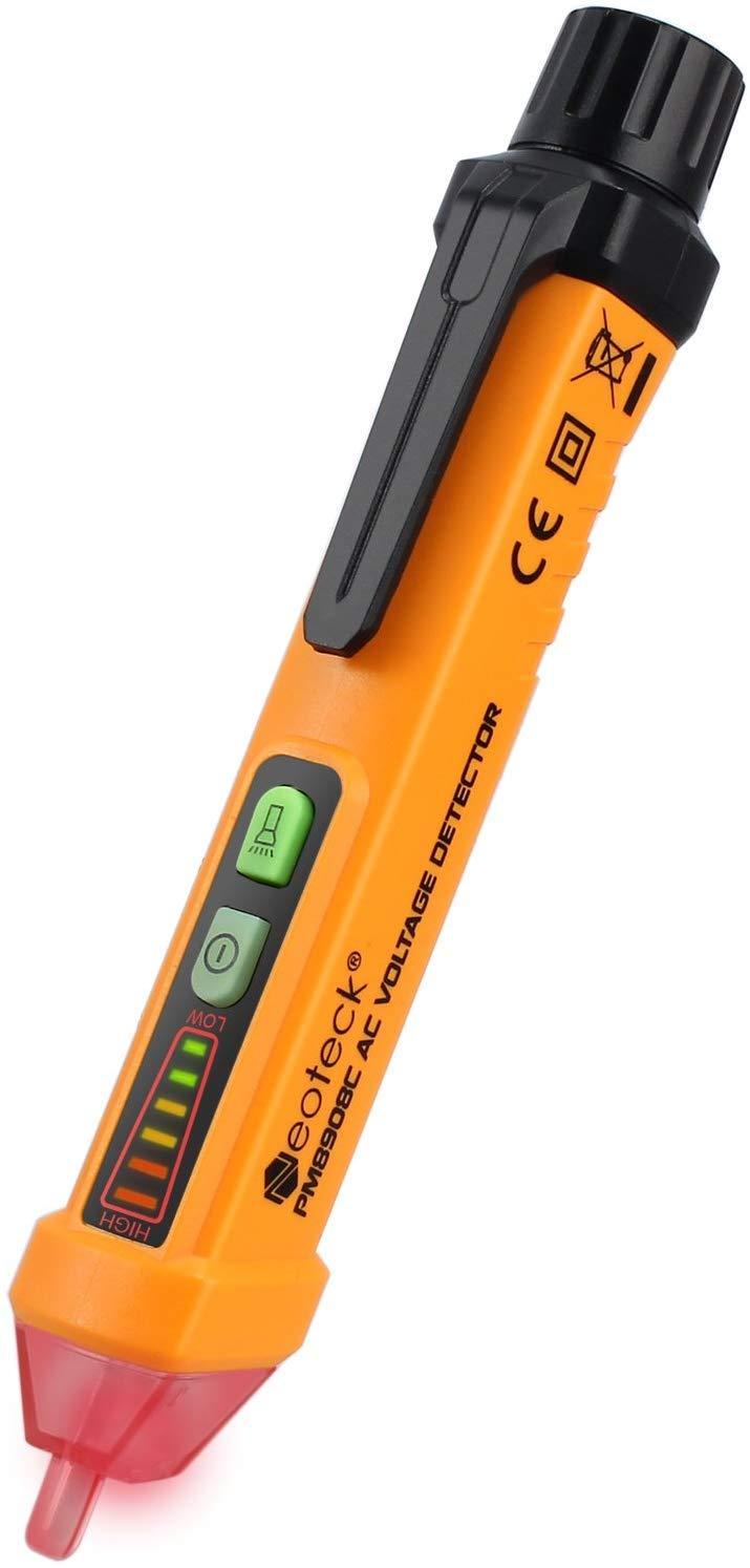 Neoteck Non Contact 12 1000V Flashlight Clip Orange