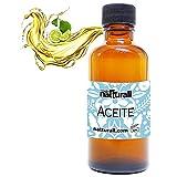 Natturall Aceite Bergamota 60 ml para Barba y Cabello Crecimiento Alopecia 100% Fortalece Nutre y da Brillo