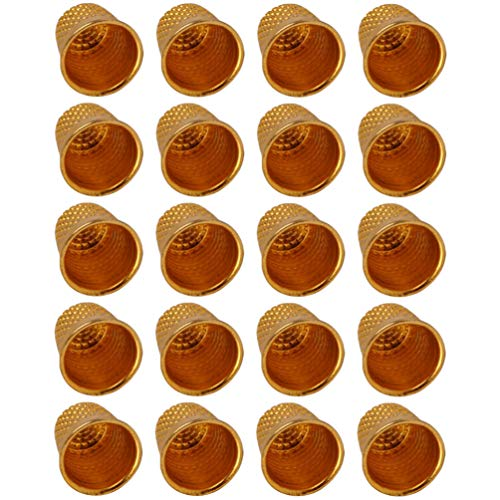 Exceart 50St Metalen Munt Naaien Vingerhoeden Vingerbeschermer Naaien Vingerhoeden Verstelbare Vinger Schild Ring Vingertop Vingerhoed Naaien Tools Gouden