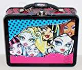 1 X Faces of Monster High Embossed Metal Lunch Box/ Carry-All