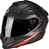 SCORPION Casque moto EXO 1400 AIR CARBON PURE Rouge fluo, Noir/Rouge, L