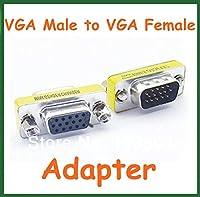 100pcs 15 Pin VGA Male to VGA Female Adapter Extend Converter VGA Connector VGA Male to Female