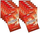 Halls Caramelle fresche originali Caramelle senza zucchero con fragole 65 g, Confezione 12er (12x65g)