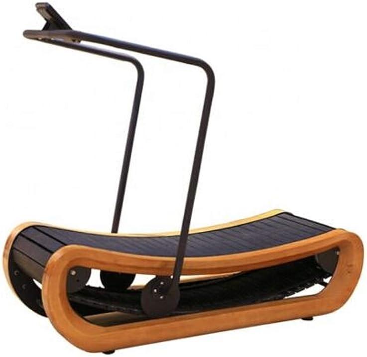 da tapis roulant non motorizzato curvo rifinito in legno b08w8tq214