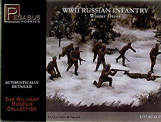 Russian Infantry Winter Dress WWII (40) (Plastic) 1-72 Pegasus