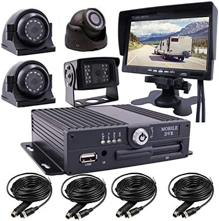 JOINLGO 4 CH 1080P AHD Car Camera System SD Mobile Vehicle Car DVR Loop Real time Video Recording product image