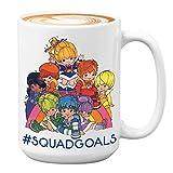 80s Animation Friendship Mug 15 oz White, Squadgoals Inspired College Bestie BFF