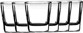 Borosil Quba Glass Set, 160ml, 6-Pieces, Transparent