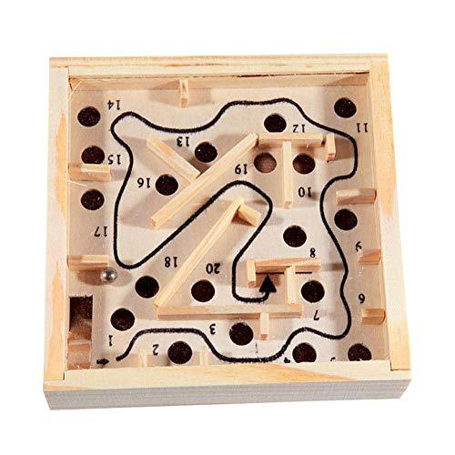 U/K Divertido regalo de madera laberinto de madera con puzle para niños, juguete educativo muy práctico y popular