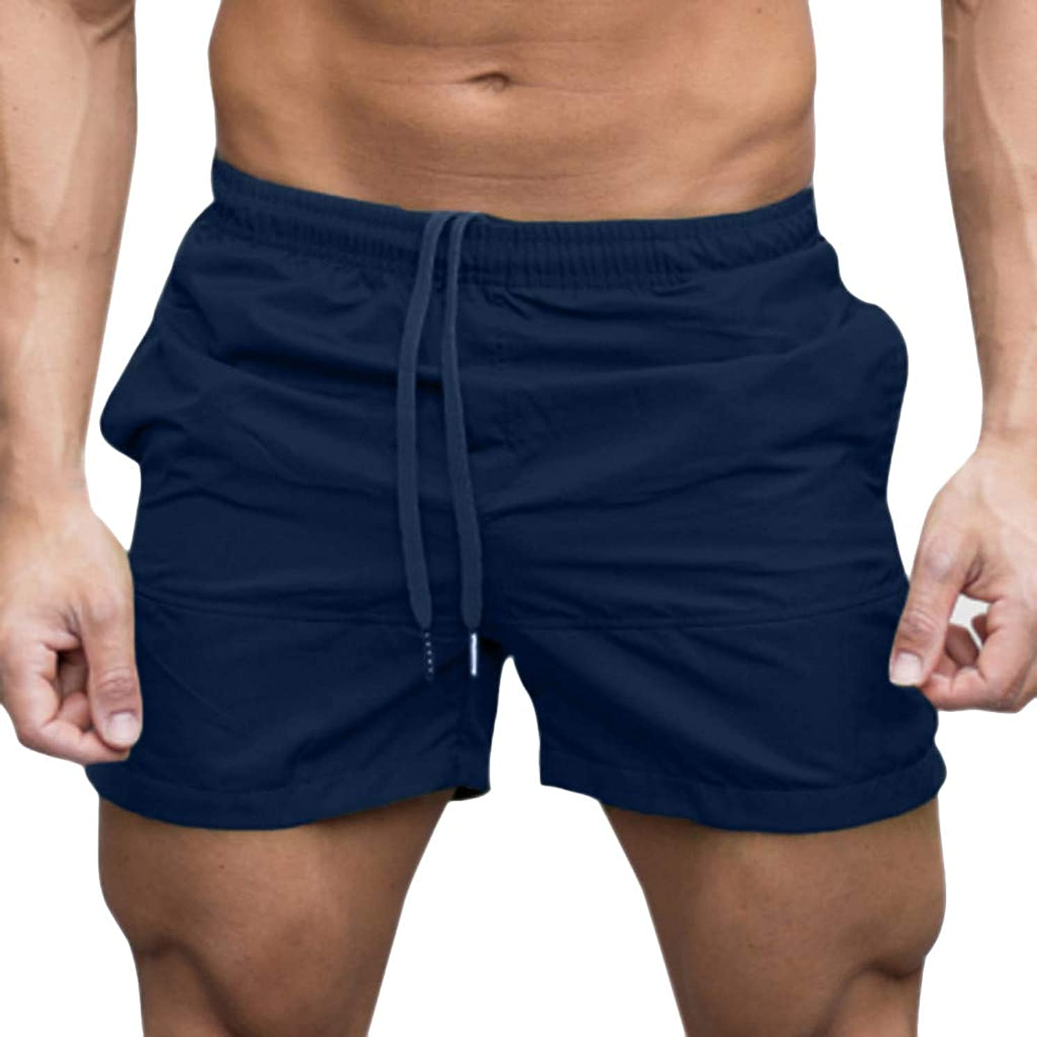 iYYVV Men Casual Sports Jogging Elasticated Waist Shorts Pants Trousers
