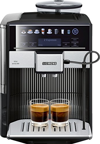 Siemens TE605209RW cafetera automatica, 1500 W, 1.7 litros, Acero Inoxidable, Negro