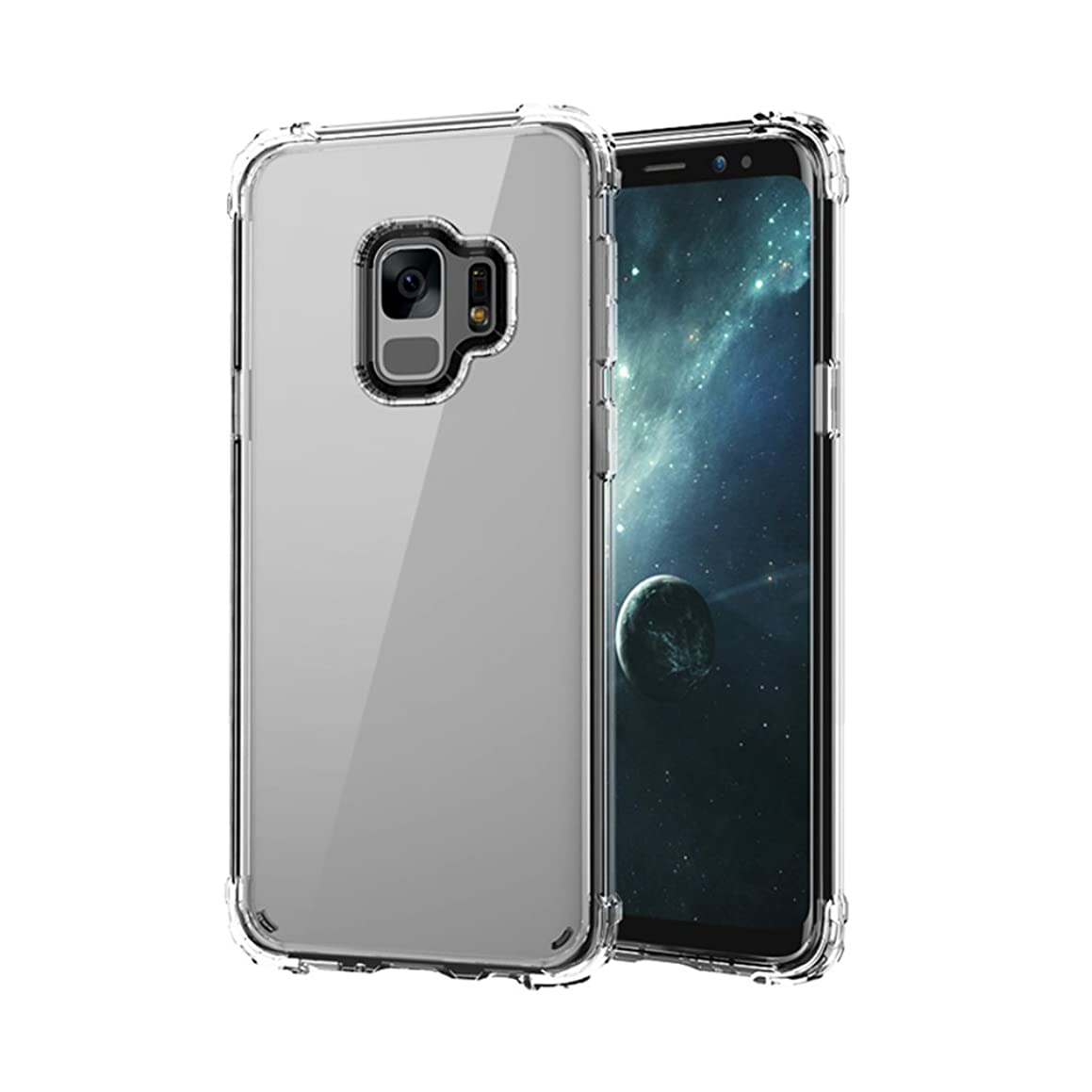 Hayder Galaxy S9 Case Clear Ultra Slim Scratch-Resistant Shockproof Protective Case Cover for Galaxy S9