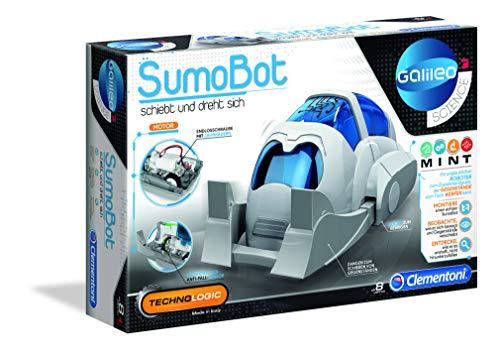 Clementoni-Galileo Science-SumoBot Robot, Iniziare a Costruire elettroniche e robotiche, Scienza per Piccoli esploratori, Alta Tecnologia per Bambini dagli 8 Anni in su, 59159