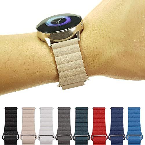 Pulseira Couro Loop para Samsung Galaxy Watch Active 40mm e 44mm - Galaxy Watch 42mm - Gear S2 Classic - Amazfit Gtr 42mm - Amazfit Bip - Marca Ltimports (Caqui)