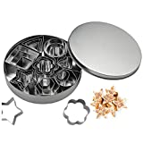 tao pipe Cookie Cutter Set, 24 PCS Stainless Steel Biscuit Cookies Cutters Molds Flower, Heart, Strar, Geometric Shapes Best for DIY Baking Cake Decoration (Mini Size)