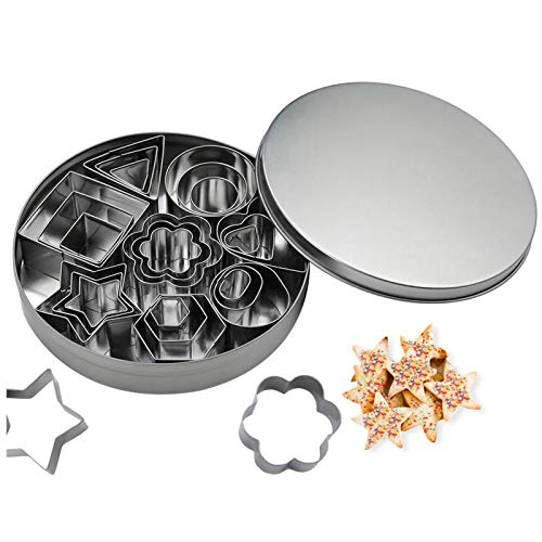tao pipe Cookie Cutter Set, 24 PCS Stainless Steel Biscuit Cookies Cutters...