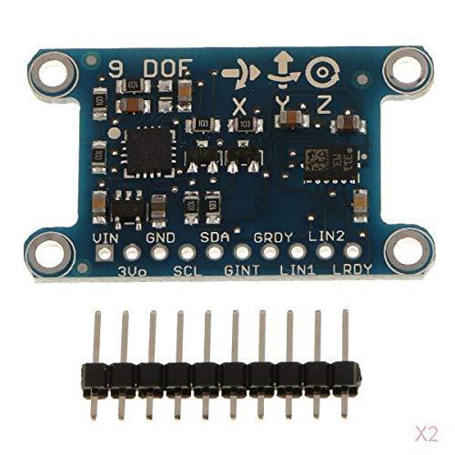 H HILABEE 2X Módulo Mini 9DOF Tarjeta de Sensor Magnético de Brújula Giratoria Attitude de Nueve Ejes