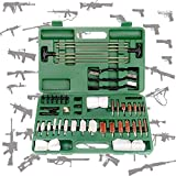 WDSZXH Universal Gun Kits de Limpieza para Rifle Airsoft Pistola Caza Tiro Limpieza cepillos Conjunto con Caja de Aluminio (Color : Green)