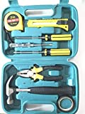 GNEY 9 in 1 Network Tool Kit Professional,Meter Tape, Cable Tester, 2 Pack Screwdriver,Pliers,PVC Tape,Hammer,Utility Knife Tool Set