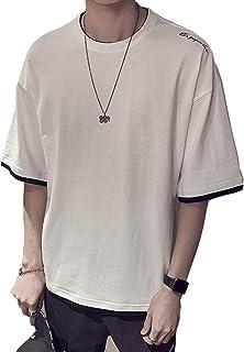 Mikino Tシャツ メンズ Tシャツ 半袖 七分袖 五分袖 カットソー tシャツ 吸汗速乾 汗染み防止 快適な 夏 Tシャツ ファッション カジュアル カットソー 夏秋季対応