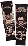 (バンソン) VANSON アームシェード サポーター 刺繍 抜染プリント NVAS-601 スカル ウィング
