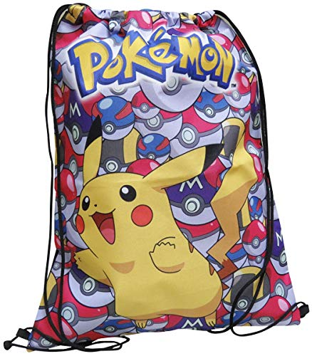 Pokemon MC-233-PK Turnbeutel 35 cm Design: Pikachu mit Pokeballs